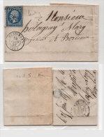 Lettre (LAC) De MUSSIDAN A BORDEAUX  - PC 2210 (Indice 5)  Sur Yvert 14 A (74380) - 1853-1860 Napoleon III