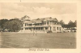 MALAYSIA  Malaisie   PENANG  Cricket Club    édit ; Raphael  TUCK   2 Scans - Malesia