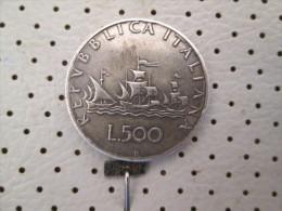 ITALIA Lire 500 1961  11.01 G - 1946-… : Republic