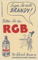Buvard :  BRANDY - Schnaps & Bier