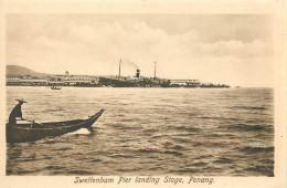 MALAYSIA  Malaisie   PENANG  Swettenham Pier Landing Stage  édit ; Raphael  TUCK   2 Scans - Malesia