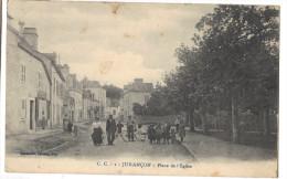 carte postale ancienne juran�on place de l eglise