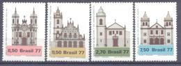 1977. Brazil, Mich.1637-40, Churches Of Brazil, 4v, Mint/** - Brésil