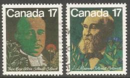 Canada. 1981 Canadian Botanists. Used Complete Set SG 1017-1018 - 1952-.... Reign Of Elizabeth II