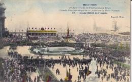 75 EME ANNIV. INDEPENDANCE BELGE 21/7/ 1905  PLACE POELAERT DEFILE ARMEE - Manifestations
