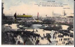 75 EME ANNIV. INDEPENDANCE BELGE 21/7/ 1905  PLACE POELAERT DEFILE GARDE CIVIQUE - Manifestations