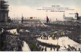 75 EME ANNIV. INDEPENDANCE BELGE 21/7/ 1905  PLACE POELAERT DEFILE DRAPEAUX - Manifestations
