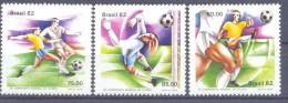 1982. Brazil, Mich.1873-75, World Football Cup 1982, 3v, Mint/** - Brésil