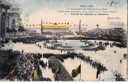 75 EME ANNIV. INDEPENDANCE BELGE 21/7/ 1905  ARRIVEE DEPUTES ET SENATEURS - Manifestations