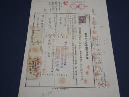 JAPON - Rare Document Fiscal Avec Timbres Fiscal Et Postal - Trés Bon état - Rare - A Voir - Lot N° 1417 - Covers & Documents