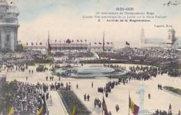 75 EME ANNIV. INDEPENDANCE BELGE 21/7/ 1905  ARRIVEE DE LA MAGISTRATURE - Manifestations