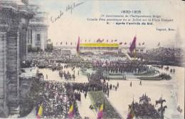 75 EME ANNIV. INDEPENDANCE BELGE 21/7/ 1905  APRES L'ARRIVEE DU ROI - Manifestations