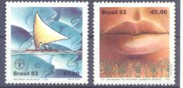 1983. Brazil, Mich.2000-01, 20y Of International Food Program, 2v, Mint/** - Brésil