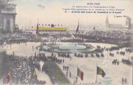 75 EME ANNIV. INDEPENDANCE BELGE 21/7/ 1905  ARRIVEES DES COURS DE CASSATION_APPEL - Manifestations