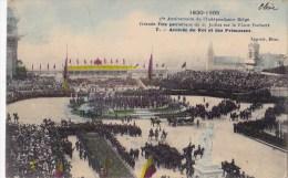 75 EME ANNIV. INDEPENDANCE BELGE 21/7/ 1905  ARRIVEE DU ROI ET DES PRINCESSES - Manifestations