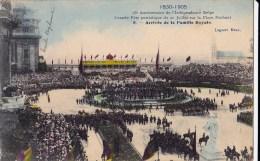 75 EME ANNIV. INDEPENDANCE BELGE 21/7/ 1905  ARRIVEE DE LA FAMILLE ROYALE - Manifestations