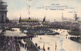 75 EME ANNIV. INDEPENDANCE BELGE 21/7/ 1905  PENDANT LA CANTATE - Manifestations