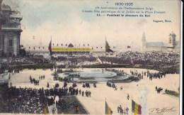 75 EME ANNIV. INDEPENDANCE BELGE 21/7/ 1905  PENDANT LE DISCOURS DU ROI - Manifestations