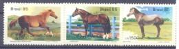 1985. Brazil, Mich.2097-99, Horses, 3v, Mint/** - Brésil