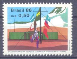 1986. Brazil, Mich.2168, Antarctic Station, 1v, Mint/** - Brésil
