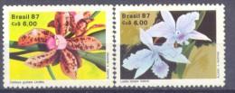 1987. Brazil, Mich.2237-38,Orchids, 2v, Mint/** - Brésil