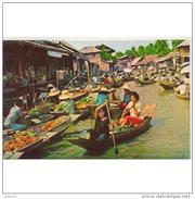 ASIA2034-LFTMD2200TCMC. Tarjeta Postal De ASIA.Mercado En Barcas - Mercados