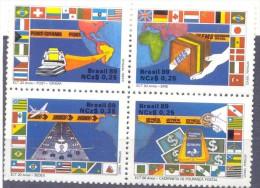 1989. Brazil, Mich.2289-92, Aviation, 4v, Mint/** - Brésil