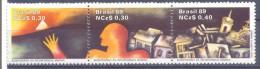1989. Brazil, Mich.2295-97, History, 3v, Mint/** - Brésil