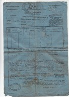 VIEUX PAPIERS. LOIRE ST BONNET LE CHATEAU 1845. COMMANDEMENT . / - Alte Papiere