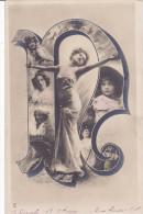 """CARD ALFABETO LETTERA """"R"""" DONNA CHARME       -FP-VSF-2-0882-22689 - Nomi"""