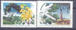 1990. Brazil, Mich.2340-41, Botanical Association, 2v, Mint/** - Brésil