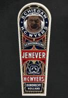 Etiquette De Liqueur JENEVER Découpée (6 X 16 Cms) (Ref.35868) - Labels