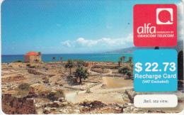 LEBANON - Jbeil/Sea View, ALFA By Orascom Telecom Recharge Card $22.73, Exp.date 02/02/14, Used - Libanon