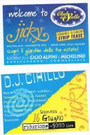 DISCOTECA  JICKY CLUB , MAROTTA (PS):    CLUB DELLE STELLE   - RIF. 3776 - Musica E Musicisti