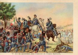 CARTOLINA D'EPOCA  GRANATIERI DI SARDEGNA  A ME LE GUARDIE PER L'ONORE DI CASA SAVOIA GOITO 30 MAGGIO 1848 - Patriottisch