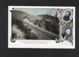 Schweiz AK Harzzahnradbahn Einschnitt Eichen- U. Staufenberg Und Damm Im Wasserweg - Treinen