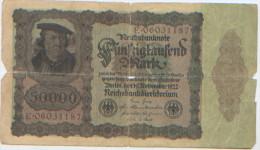 Billet De Banque, Banknote, Biglietto Di Banca, Bankbiljet, Reichsbanknote, République De Weimar 1922, 50000 Mark - [ 3] 1918-1933 : Weimar Republic