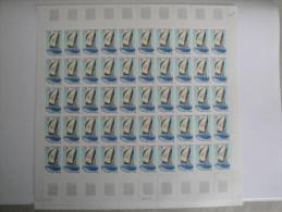 1990 Bateau Voilier La Poste, Yvert  2648  Maury 2647,  Feuille Complète Non Pliée, 50 Timbres,prix Faciale ,à Saisir ! - Feuilles Complètes