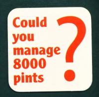 UNITED KINGDOM  -  Please Give Blood  Beermat As Scans - Beer Mats