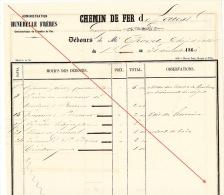 Débours 1886 Chemin De Fer De L´ouest De Guingamp à Brest Construction Des Gares Chovet Chef Atelier - Documents Historiques