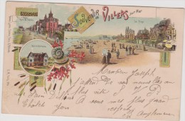Calvados :  VILLERS  Sur  MER  :  Souvenir   ( Destinée  A  Paris ) - Villers Sur Mer