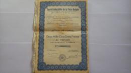 2842  -- ALGERIE - Sté Indus. De La PETITRE KABYLIE - Capital 22.500.000 Frs Action De 2.500.000 Frs - Shareholdings