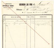 Débours 1886 Chemin De Fer De L´ouest De Guingamp à Brest Construction Des Gares Baconnier Employé - Documents Historiques