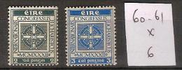 Irlande 60-61 * Côte 6 € - 1922-37 Stato Libero D'Irlanda