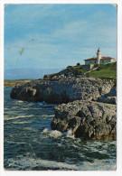 Espagne--près Santander--SUANCES--Falaise (faro-phare) ,cpm N°86  Foto A.Bustamante Hurtado - Cantabria (Santander)