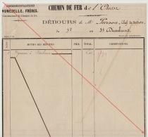 Debours 1863 Chemin De Fer De L´ouest De Guingamp à Brest Construction Des Gares Pierson Chef Section - Documents Historiques