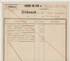 Debours 1863 Chemin De Fer De L´ouest De Guingamp à Brest Construction Des Gares Roche Chef Section - Documents Historiques