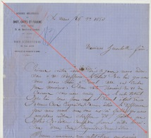 Courrier 1863 Diot Carel Fouché Livraison Bois Pour Chemins De Fer De L´ouest Laval Gare - Documents Historiques