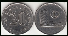 Malesia 20 Sen 1988 Km#4 - Used - Malesia