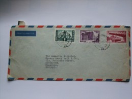 SAAR 1952 AIR MAIL COVER TO ENGLAND - Lettres & Documents